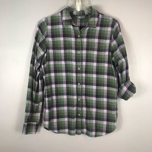 The North Face flannel Plaids shirt size small